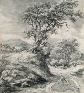 Dune Landscape with Oak Tree}