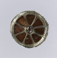 Pair of Cloisonné Disk Brooches