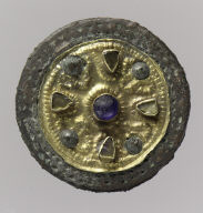 Pair of Filigree Disk Brooches