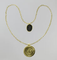 Necklace with Medallion and Amulet