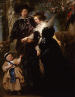 Rubens, His Wife Helena Fourment (1614-1673), and Their Son Peter Paul (born 1637)