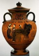 Neck-amphora (jar) with lid