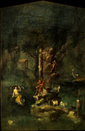Polyphemus and Galatea in a landscape