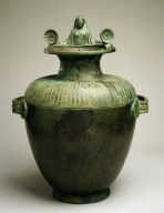 Hydria (water jar) with protome of a woman