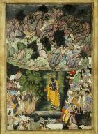[Illustrated detached folio, Leaf from a Harivamsa Manuscript, The Legend of Hari (Krishna)]