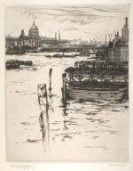 Thames River from Waterloo Bridge, London