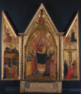 Triptych of the Virgin and Child Enthroned with Saints