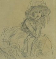 """Study for """"A Girl in a Boat"""""""
