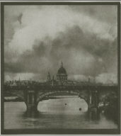 London. Bridge over the Thames and St. Paul's Cathedral