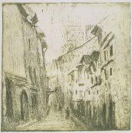 An Alley in Rouen, Rue des Arpents