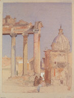 The Forum, Rome, with the Temple of Saturn
