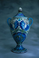 Covered Vase with Persian Flowers