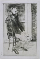 Manet Seated, Right Profile