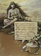 (Illustration for Rubáiyát of Omar Khayyám) The Song in the Wilderness