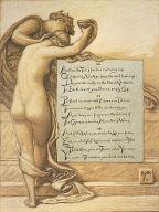(Illustration for Rubáiyát of Omar Khayyám) The Cup of Love
