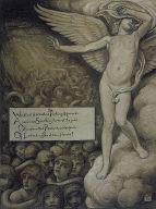 (Illustration for Rubáiyát of Omar Khayyám) Love Shrinking Affrighted at the Sight of Hell