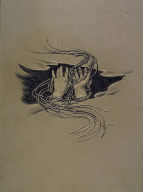 (Illustration for Rubáiyát of Omar Khayyám) Pardon Giving and Pardon Imploring Hands