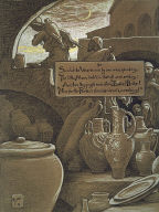 (Illustration for Rubáiyát of Omar Khayyám) The End of Ramazan
