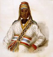 YOHOLO-MICCO. A CREEK CHIEF., from History of the Indian Tribes of North America