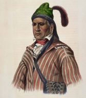 ME-NA-WA. A CREEK WARRIOR, from History of the Indian Tribes of North America