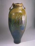 Tie Down Salt Glazed Covered Jar