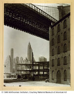 Brooklyn Bridge, Water and Dock Streets, Brooklyn, from the series Changing New York