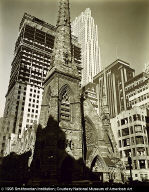 Rockefeller Center, Collegiate Church of St. Nicholas in Foreground, from the series Changing NewYork