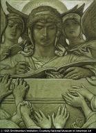 (Illustration for Rubáiyát of Omar Khayyám) The Recording Angel