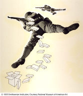 Paperboard Fills the Soldier's Pack!, from the Early Series
