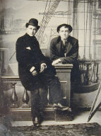 Studio Portrait of Two Men on Ship