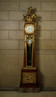 Longcase Regulator Clock with Mounts Emblematic of Apollo