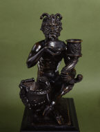 Satyr with Inkstand and Candlestick