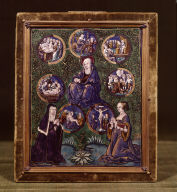 Limoges Painted Plaque: The Seven Sorrows of the Virgin