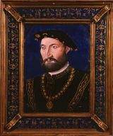 Limoges Painted Plaque: Guy Chabot, Baron de Jarnac