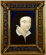 Limoges Painted Plaque: Louise de Pisseleu, Madame de Jarnac