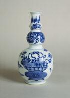 Blue and White Triple-Gourd Vase