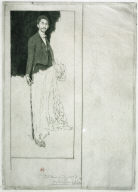 Reproduction of Whistler's Portrait of Montesquiou