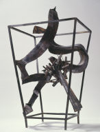Calligraph in Cage with Cluster No. 2, II (with two heads)