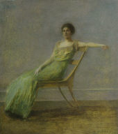 Lady in a Green Dress