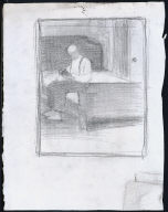 Man Seated on Bed
