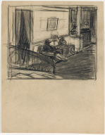 [Study for Hotel Lobby, Drawing for painting Hotel Lobby]