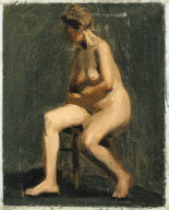 (Seated Female Nude)