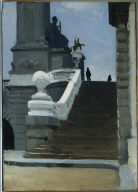 (Two Figures at Top of Steps in Paris)