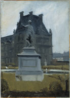 (Statue Near the Louvre)