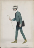 (Walking Man with Cane and Briefcase)