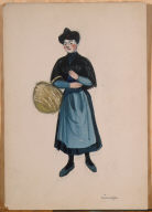 (French Woman with Basket)