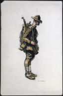 (Soldier with Rifle and Backpack)