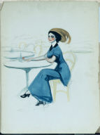 (Woman at Caf&#233 Table)
