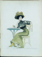 (Woman Seated at Caf&#233 Table)