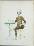 (Dandy Seated at Caf&#233 Table)